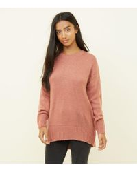 2093a221689 New Look Mid Pink Chenille Roll Neck Jumper in Pink - Lyst