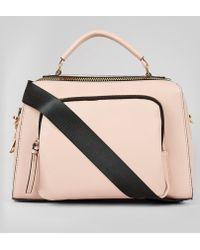 New Look Pink Chunky Zip Luggage Bag