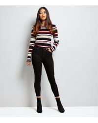 New Look - Petite Black Super Soft Super Skinny Jeans - Lyst
