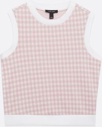 New Look Pink Check Sleeveless Vest Jumper