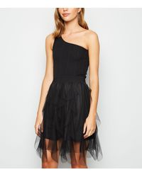 New Look Black Mesh Tutu Mini Skirt
