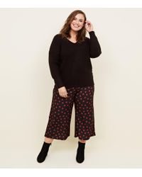 05ccd46c70e8 New Look Curves Brown Leopard Print Cropped Trousers in Brown - Lyst