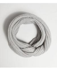 New Look Grey Ribbed Knit Snood