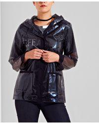 New Look Urban Bliss Black Dogtooth Sheer Coated Mac