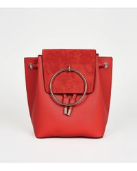New Look - Red Metal Ring Front Backpack - Lyst
