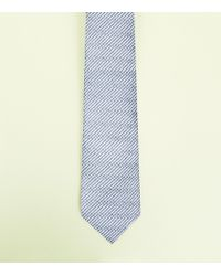 New Look - Silver Chevron Tie - Lyst