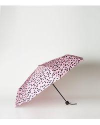 New Look Pink Animal Print Umbrella