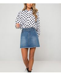 Urban Bliss Blue Belted Denim Skirt