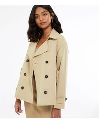 New Look Camel Swing Trench Coat - Natural