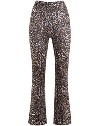 New Look Brown Leopard Print Flared Trousers