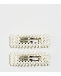 New Look - 2 Pack Cream Faux Pearl Hair Clips - Lyst