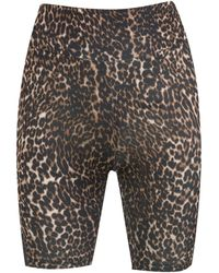 New Look Brown Leopard Print Cycling Shorts
