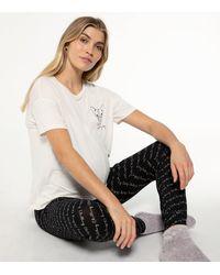 New Look Maternity Black Chilling Pug Slogan Jogger Pyjamas