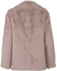 New Look Petite Faux Fur Coat - Pink