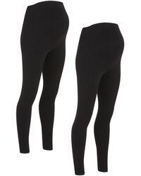 New Look - Maternity 2 Pack Black Jersey Leggings - Lyst