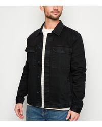 New Look - Black Utility Denim Jacket - Lyst