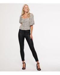 New Look Black Leather-look Hallie Super Skinny Jeans