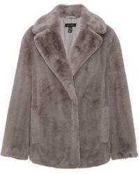 New Look Dark Grey Faux Fur Coat
