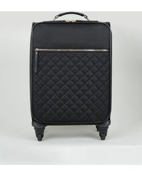 New Look Black Quilted Cabin Suitcase