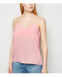 New Look Pink Lattice Back Cami