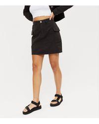 Urban Bliss Denim Utility Mini Skirt New Look - Black