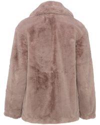 New Look Faux Fur Coat - Brown