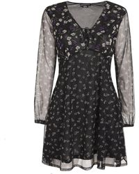 New Look Wednesday's Girl Black Floral Mesh Dress