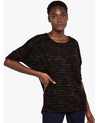 Apricot Black Knit Spot Oversized Top