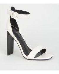 bd990c3bcc1 New Look White Comfort Platform Block Heel Sandals in White - Lyst