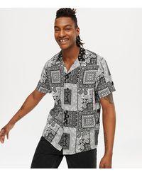 New Look Black Paisley Short Sleeve Shirt