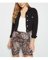New Look - Brown Animal Print Cycling Shorts - Lyst