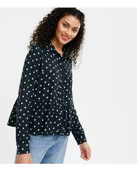 New Look Black Spot Tiered Shirt