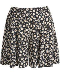 New Look Black Floral Print Flippy Shorts