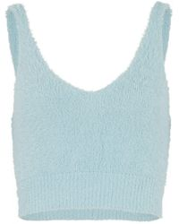 New Look Pale Blue Fluffy Knit Vest