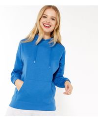 New Look Bright Blue Pocket Front Hoodie