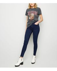 New Look Blue Rinse Wash Mid Rise India Super Skinny Jeans