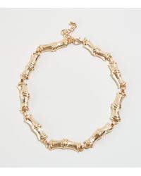 New Look - Gold Faux Bamboo Chain Necklace - Lyst