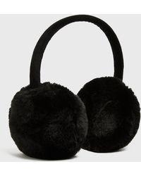 New Look Black Plain Faux Fur Ear Muffs