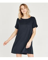 Apricot Navy Pocket T-shirt Dress - Blue