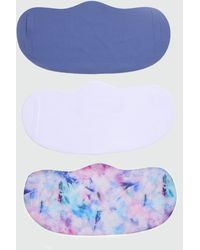 New Look 3 Pack Multicoloured Tie Dye Reusable Face Coverings - Blue