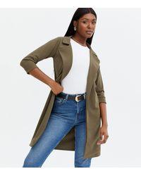 Missfiga Khaki Long Jacket - Natural