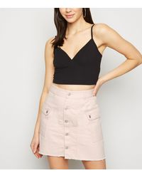 Urban Bliss Mid Pink Denim Cargo Skirt