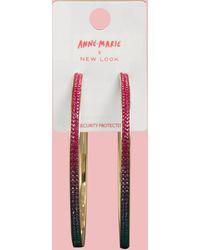 New Look Pass Me The Mic Diamanté Hoop Earrings - Pink