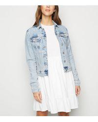 New Look Blue Bleach Wash Denim Jacket