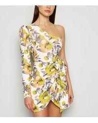 Missfiga - Multicoloured Floral One Shoulder Dress - Lyst