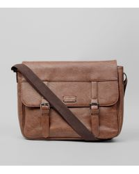 New Look - Brown Leather-look Satchel - Lyst