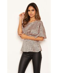 AX Paris Pink Spot Satin Top