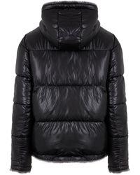 New Look Reversible Faux Fur Puffer Coat - Black