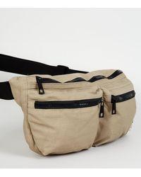 New Look Men's Double Pocket Canvas Bum Bag - Multicolour