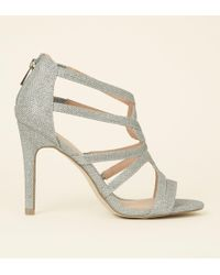 fb34fd1d739 Lord   Taylor · New Look - Silver Glitter Strappy Stiletto Sandals - Lyst